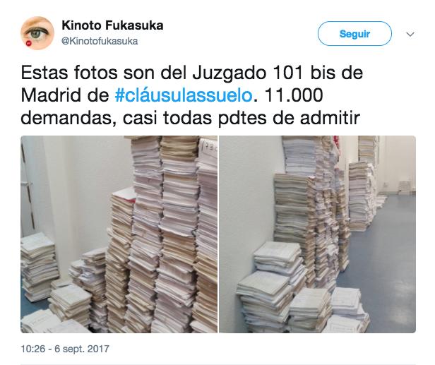 Colapso judicial por las cl usulas suelo for Clausula suelo acuerdo judicial
